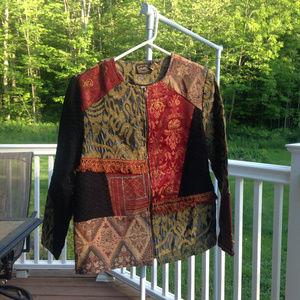 ALLURE vintage patterned blazer